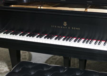 """1928 6'4"""" Ebony Satin Steinway A3 Piano"""
